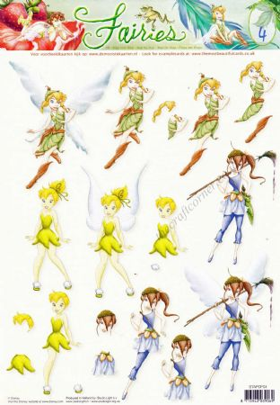 Disney Tinkerbell & Fairies 4 3d Decoupage Sheet